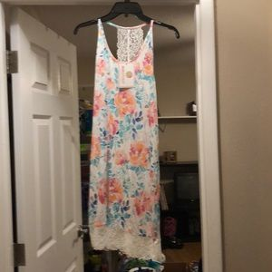 NWT Marleylilly floral nightgown with lace detail